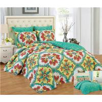Quality Reversible 6pcs Comforter Set Printed Floral Bedding Set Premier Quality 1200 Egyption Cotton Touch for sale