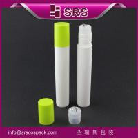 China SRS PP container supplier 15ml plastic roll-on bottle with PP screw cap for olive oil on sale