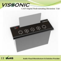 China Digital CAT5 Conference Room Audio System Flush Mounting Voting Unit Support IC Card on sale