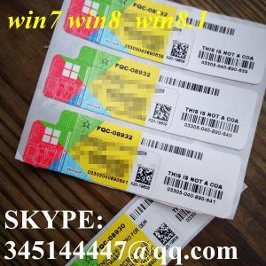 China Win 7/8/8.1 WIN7 WIN8 WIN8.1 Retail OEM Coa Sticky Sticker on sale