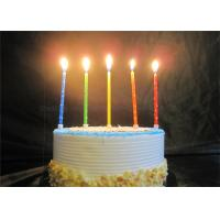 Best Star Printed Personalized Birthday Candles Red Blue Yellow Green Orange Pillar Candles wholesale