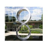 Quality Number Eight Large Steel Sculptures , Stainless Steel Garden Sculptures for sale