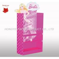 Quality Pink Point Of Sale Cardboard Display Stands For Super Market for sale