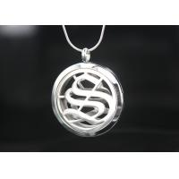 Quality Round Shape Aromatherapy Necklace Diffuser Pendant 6.5 Mm Thickness For Health for sale