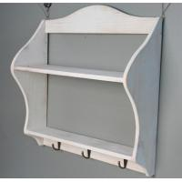 Buy cheap Wooden wedding decoration Multi-function Storage Rack shelf Wood Sundries Holder with hook wall sticker from wholesalers