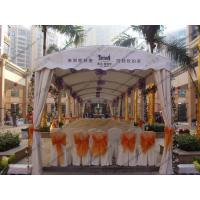Quality Small Size Polygon Tent Black , Outdoor Party Canopy Module Luxury Decoration for sale