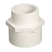 Quality White Blue Color Male Adapter Threaded Pvc Coupling Dn50 for sale