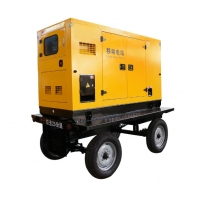 Quality 30kw 40kVA Three Phase Diesel Generator Mobile Wheels Silent Towed for sale