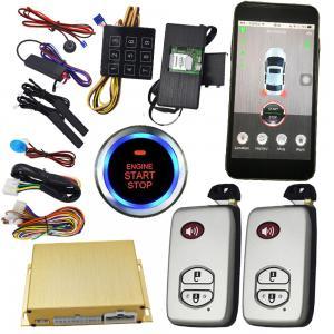 China Smartphone Remote Start Car Alarm Controlled By Phone / Remote Car Starter From Phone on sale