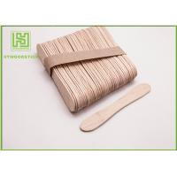 Quality Disposable Lolly Pop Ice Cream Wooden Sticks , 114mm Natural Wooden Sticks for sale