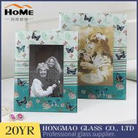 Quality Customized Design Glass Wedding Photo Frames For Office / Home Ornament for sale