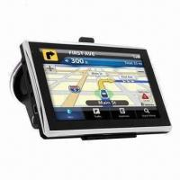 Quality 5-inch GPS Navigator with FM Transmitter, 600MHz Frequency, SiRF Atlas V Chip and 4GB Memory for sale
