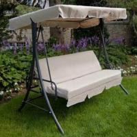 China Outdoor Patio Swing with Bed and 6mm Polyester Cushion, Measures 75 x 50 x 67 Inches on sale