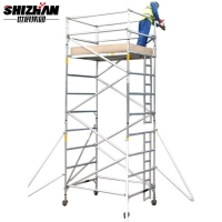 Quality H FRAME Construction Site Lightweight Aluminum Scaffolding With Clamps for sale