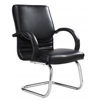 Quality Chrome Arm Executive Conference Room Chairs Without Casters High Durability for sale