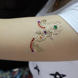 China Metallic Temporary Rhinestone Eye Tattoos Stickers With Fake Gem Stylish on sale