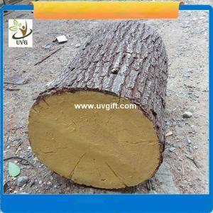 Best UVG unique decoration ideas artificial tree stump with fiberglass material for garden landscaping wholesale