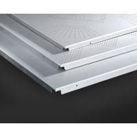 Buy cheap Hidden Frame Metal False Ceiling 600x600MM , Perforated Aluminum Ceiling Panels from wholesalers