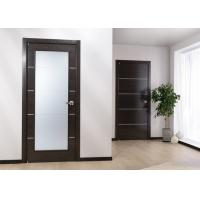 China Custom Solid Wood Panel Interior Doors , Modern Style Fireproof Wooden Doors on sale