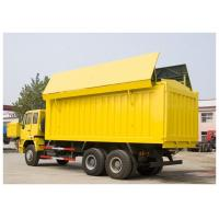 China Sinotruk SWZ Golden Prince 6x4 Dump Truck yellow color in city use with cover no dust on sale