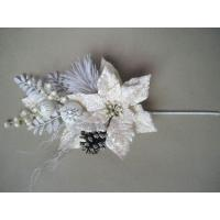 China White Bloom Silk Artificial Decorative Flowers Arrangements for Home Decoration on sale