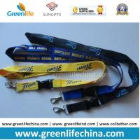 Best Eco-friendly knitted polyester flat customized lanyard with metal hook or swivel hook wholesale