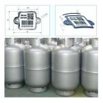 China Permanent Barcode LPG Cylinder Metal Label 1 Second Scan Durable 20 Years Outside for sale