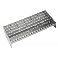 Quality Medium Duty Steel Grate Stair Treads ISO Certificated Aesthetic Appearance for sale