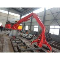 Quality 2t stationary crane with grab for steel scrap handling for sale