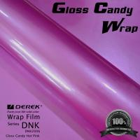 Quality Gloss Candy Hot Pink Vinyl Wrap Film - Gloss Hot Pink for sale