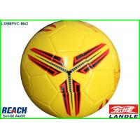 China Glossy Laser Yellow Size 5 Leather Soccer Ball for Colledge Student on sale