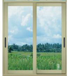 China 1.0mm - 1.2mm profile thickness electrostatic powder coated aluminum sliding glass doors on sale