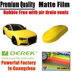 Quality Matte Car Wraps Vinyl Film - Matte Lemon Yellow Car Wrapping Film for sale