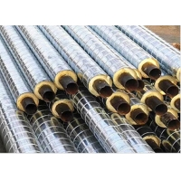 Quality DN200mm 350Degree Celsius Polyurethane Foam Insulation Pipe / Cement Mortar Lining for sale