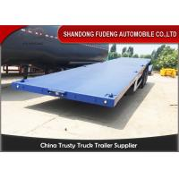 Quality 40ft / 20ft  Double Tire 50 Ton Flatbed Cargo Trailer Leaf Spring Suspension for sale