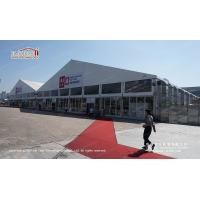 Quality Canton fair exhibition halls 40m big tents with glass walls for sale for sale