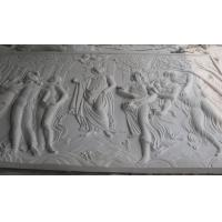 Quality white marble carved panel by hand for sale