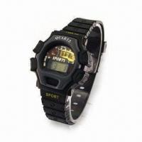 Quality Plastic Watch for Ladies, OEM Projects are Welcome, Available in Black for sale