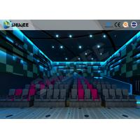 China Electric Pneumatic System 3D 4D Movie Theater Special Effect Black Motion Chairs on sale