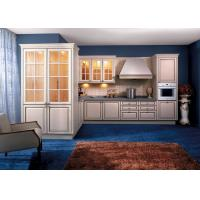 Best Soild Wood / Maple White Kitchen Wall Cabinets With Glass Doors L Shaped wholesale
