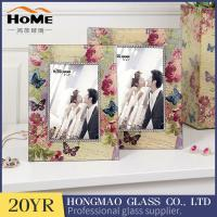 Quality Lightweight Portable Glass Wedding Photo Frames Anniversary Gifts High Hardness for sale