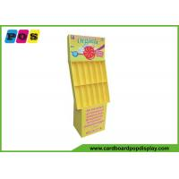 12 Cells Retail Corrugated Floor Displays Yellow Printing For Air Freshener POC008