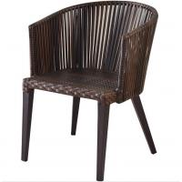 China Hot Sale Simple Design High Quality Durable Stable Garden Rattan Wicker Leisure Patio Steel  Chair on sale