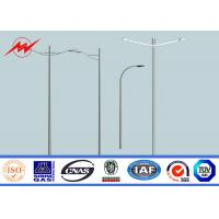 Quality 6m Dual Outreach Eco Powder Coating Outside Driveway Light Pole 160km/h Wind Speed for sale