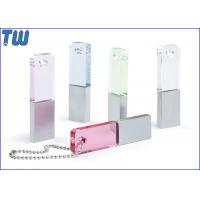 Best Slim Rectangle Crystal Pen Drive Colorful with Free Ball Chain wholesale