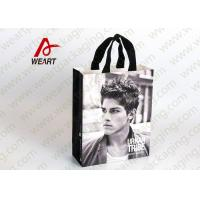 Best Glued Special Handle Printed Paper Carrier Bags , Custom Recycled Shopping Bags For Retail Stores wholesale