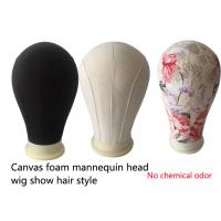 China Hair salons tools Mannequin Canvas Block Head mold printing black beige China factory on sale