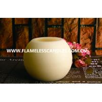 Best Round Ball Shaped LED Wax Candle With Distressed Finish for Hotel Decoration wholesale