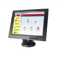 Quality 12 Inch Cup Dolly POS Touch Screen Monitor Touch LCD Display Black Color for sale