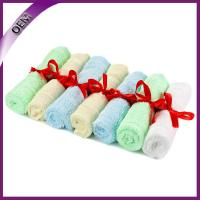Buy cheap high quality bamboo baby wash cloth for gift from wholesalers